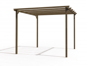 PERGOLA 3x3 - TRAITE MARRON